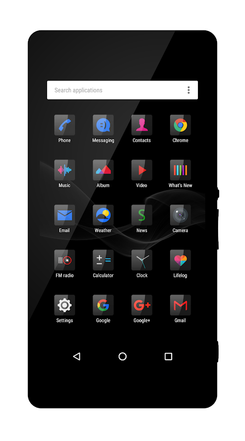Six Black Theme + Icons- screenshot