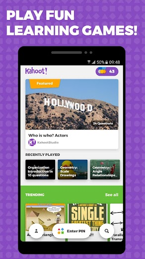 Screenshot 0 for Kahoot's Android app'
