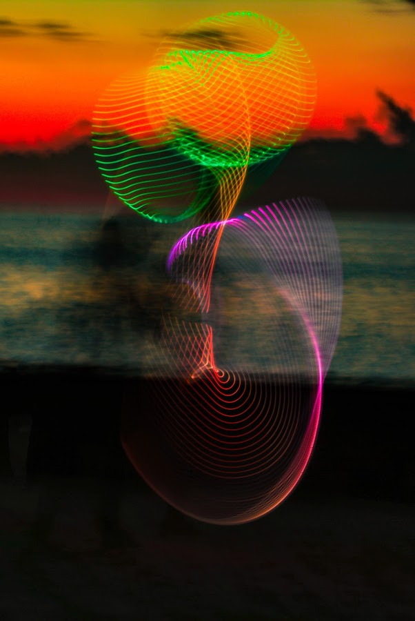 Swirls by Don Kuhnle - Abstract Light Painting ( hoola hoop, light, colors )