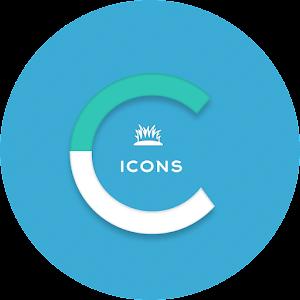 OJ Cyan – Round Icon Pack v1.0 APK