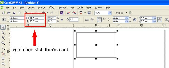 Chọn vị trí để Card