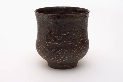 Chris Carter Carved Ceramic Yunomi 1