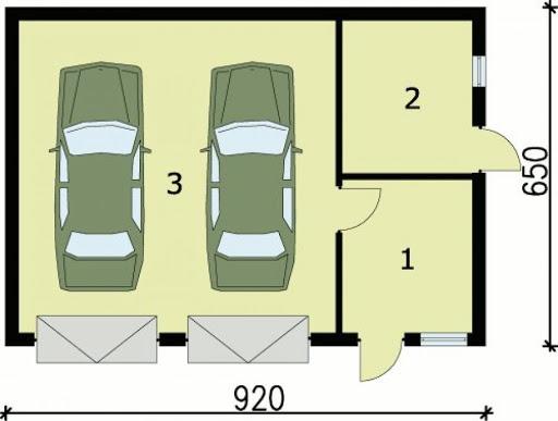 G85 - Rzut garażu