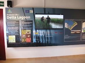 Photo: Interpretation centre doubles up as a hide for birdwatching