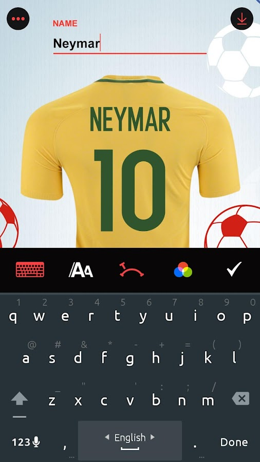 Make My Football Jersey- screenshot