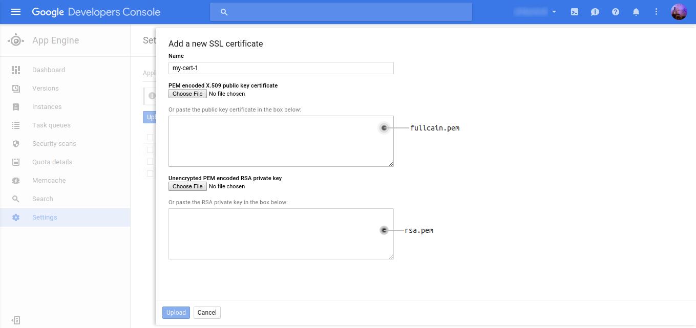 Google Cloud Dev Console