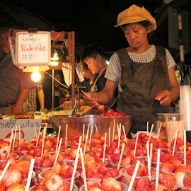 Healthy Street Food in Thailand by Russ Pearce - Food & Drink Fruits & Vegetables ( fruit, thailand, asia, strawberry, food,  )