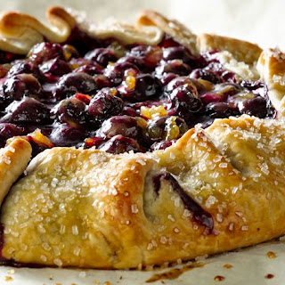 Orange Cardamom Blueberry Crostata Recipe
