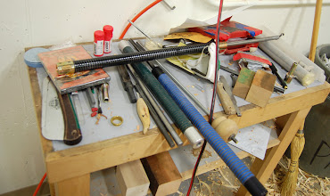 Photo: These are his tools of the trade, almost everything ....