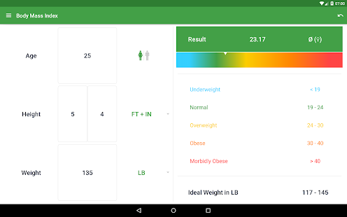 BMI Calculator – Ideal Weight- screenshot thumbnail