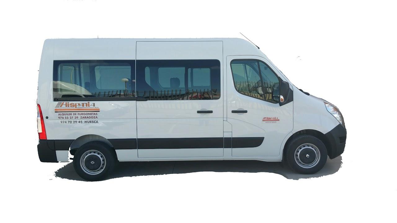 Alquiler de furgoneta Renault Master L2 H2 plazas en Zaragoza, Huesca y Teruel