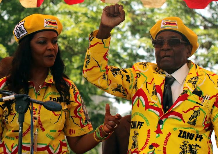 President Robert Mugabe and his wife Grace. File photo.