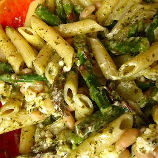Asparagus and White Bean Pasta.