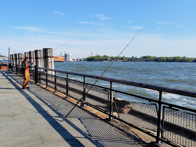 Fisherman at Battery Park