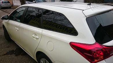 Photo: Toyota Auris kombi przyciemnianie szyb folia b.ciemna Eurofilm New Black 05 w wyśmienitym odbiciem ciepła ,blokadą UV prawie w 100% #przyciemnianieszyb #venaplex #toyotaauris #toyota #kombi #przyciemnianieszybkrakow #news #llumar #krakow #folie #foliowanieszyb #tuningtoyota #carstyling #garage #moto #car #eurofilm