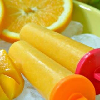 Mango Orange Ice Pops