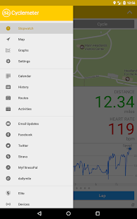 Cyclemeter GPS - Cycling, Running, Mountain Biking Screenshot