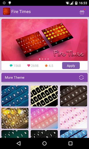 Emoji Keyboard-Fire Times