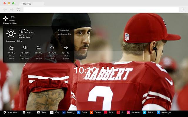 San Francisco 49 people NFL HD New Tab Theme