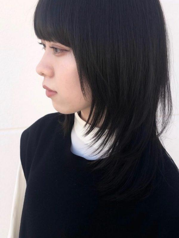 ミディアム ウルフ 髪型