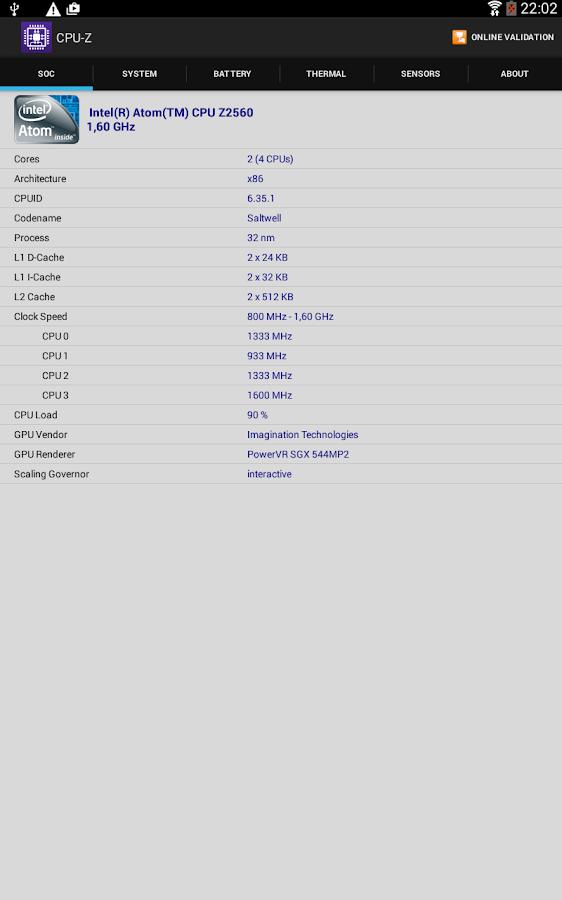 CPU-Z - screenshot