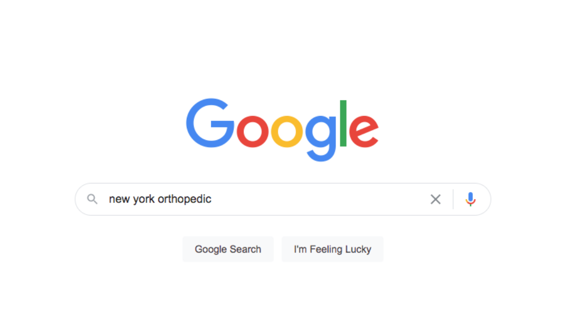Google search for 'new york orthopedic'