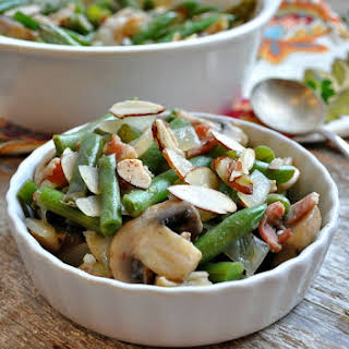 Green Bean Casserole with Bacon and Mushrooms.
