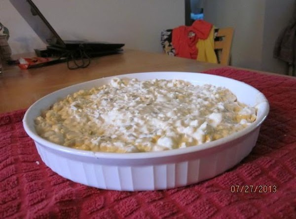 "Spoon or pour into a quiche dish or a 8"" x 8"" casserole dish..."
