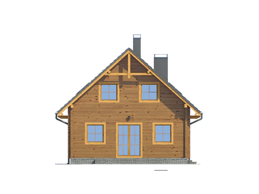 Bartne drewniane 8-0k - Elewacja lewa