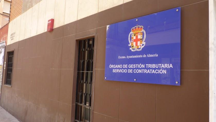 Fachada del edificio del Órgano de Gestión Tributaria