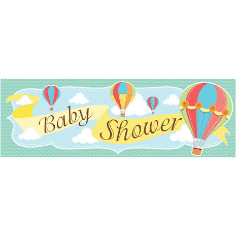 Banner Babyshower - Up up and away