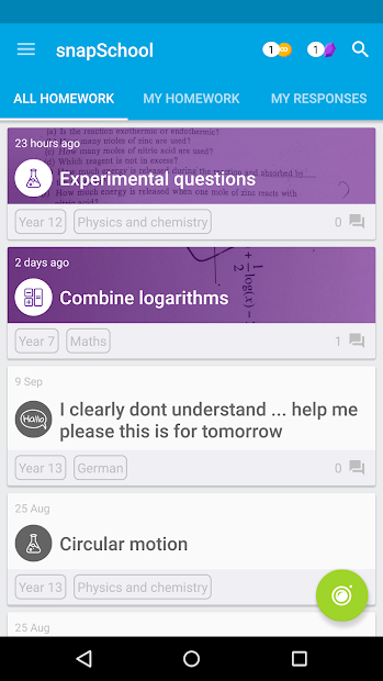 snapSchool Android App Screenshot