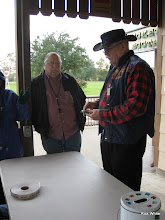 Photo: Joel Corbin and Clyde Brown on a raining day.   HALS Run Day 2009-1121