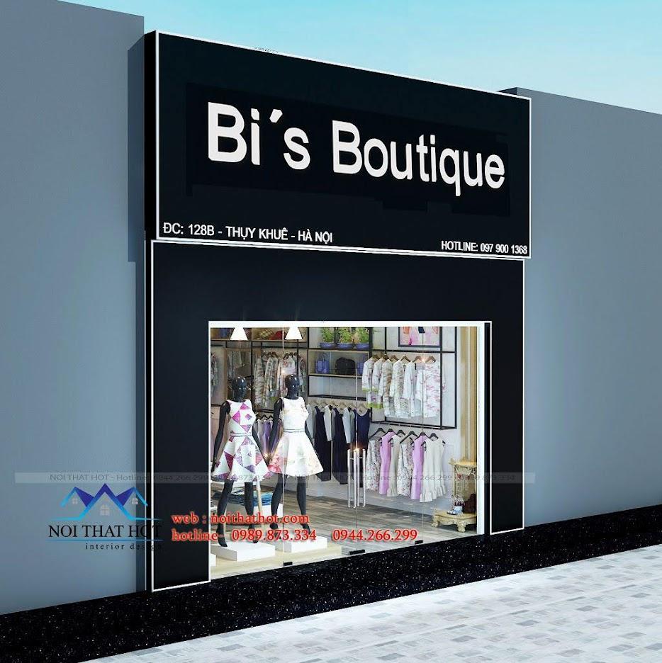 thiết kế shop thời trang nữ Bi's Boutique 2