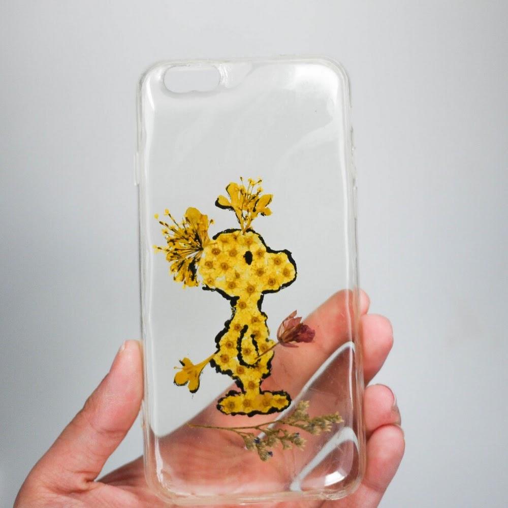 [訂製/custom-made] Woodstock Pressed Flower Phone Case