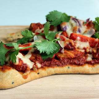 Chicken Tandoori Naan Bread Pizza.