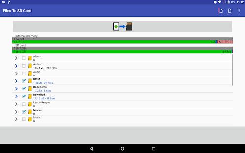 Files To SD Card Screenshot