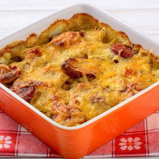 Easy Cheesy Potatoes With Kielbasa.