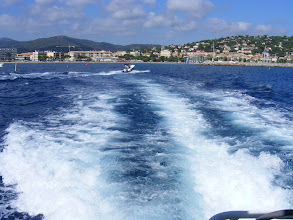 Photo: And off we go, leaving Sainte-Maxime in our wake.