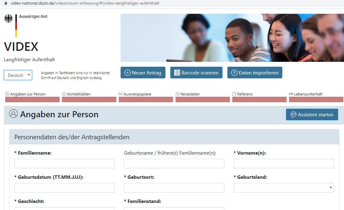 Người xin visa du học Đức phải điền đầy đủ thông tin, không bỏ qua ô nào