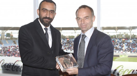 Mohamed El Assy con Christian Lapetra.