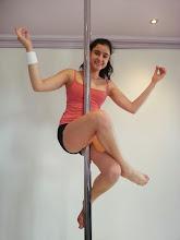 Photo: Sam - Lock with No Hands - vertical pole gymnastics at Pole Fitness Studios.com.au