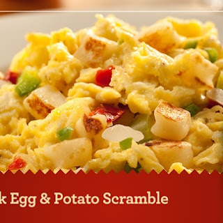 Quick Egg & Potato Scramble.