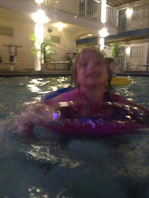 Photo: Abby in pool last weekend of June 2013