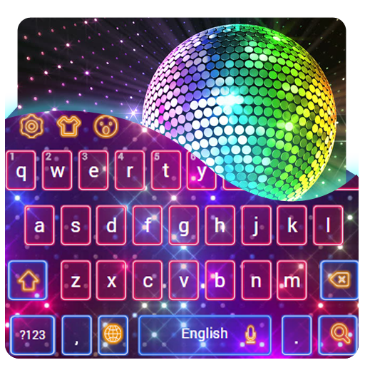 Sparkling Neon Disco Keyboard