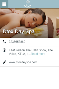 Dtox Day Spa- screenshot thumbnail