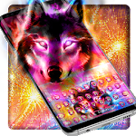 Howling Color Wolf Typewriter Theme Icon
