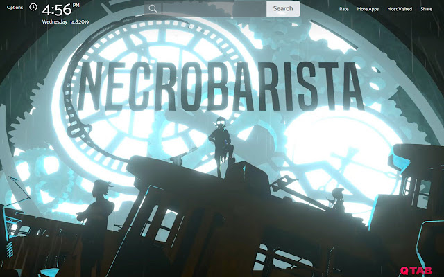 NECROBARISTA Wallpapers New Tab Theme