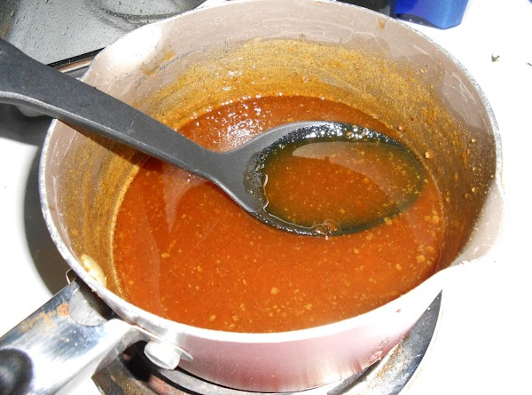 In a small saucepan, place chicken broth, brown sugar, spicy brown mustard and apricot...