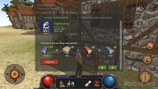 World Of Rest: Online RPG  captures d'u00e9cran 2